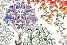 Coloring Pages for Adults / Various free coloring pages to print and color at home / by Warren County Library HQ NJ