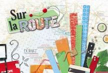 "Kit ""Sur la route"" / scrapbooking, template, travel , digital scrap, holiday"