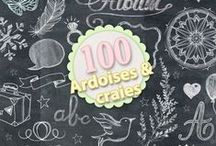Pack ardoises et craies / Chalkboard, chalk, wordart, template, scrapbooking, sketche, layout, digital scrap