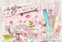 Kit La clef des sentiments / love, amour, pink, women, girly, digital scrap, template, scrapbooking,