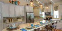 Incredible Kitchens by ICI Homes / View some of the kitchens featured in our model homes. Gorgeous granite islands, beautiful custom cabinets, and perfectly appointed lighting and decorations.
