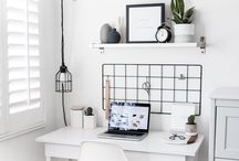 WORKSPACE IDEAS & SHELVES / Create beautiful workspace that you'll enjoy working in! Inspiration for  boss babes and girl boses.
