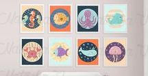 Nursery Art Printables / Beautiful prints for the nursery or kids room.