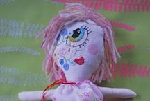 dolls / sweet-dust dollies, hand made, recycled,