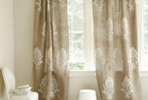 burlap window treatments / by burlap projects