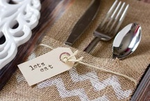 burlap table projects