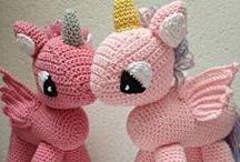 Handmade crochet toys / Handmade crochet animals, cuddling dolls etc by Ollebol & Muis.