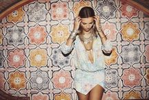 Boho Glam / Boho luxe and all things glamourous