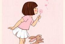 Belle & Boo / Belle & Boo is een mooi merk uit Engeland. Illustratrice Mandy Sutcliffe laat je wegdromen bij haar favoriete karakters Belle en haar konijntje Boo. Belle is een klein meisje met boblijn haar en grote ogen.   Mandy verzon een magische wereld voor Belle en gaf haar Boo, het lieve schattige konijntje, om haar gezelschap te houden. www.ollebolenmuis.nl