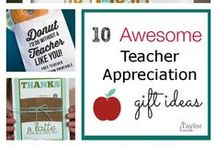 Teacher Appreciation / On this board you will find simple and easy gift ideas for Teacher Appreciation Week.