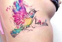 Tattoos: watercolour & dotwork