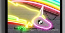 Neon light Posters (My Etsy Shop) / Neon lights