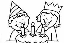 thema feesten / jarig zijn / birthday / activiteiten in verband met feesten / jarig zijn / by Christel Bellens