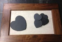 Slate Coasters & Mats / A range of slate coasters and mats hand cut from slate by Ardosia in the UK.