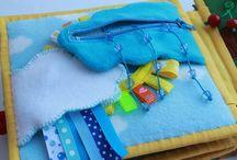 Quietbook - Baby / Ideen für Quietbooks für Babies