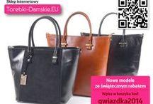 Pomysły na prezenty - torebki z nowej kolekcji / Najnowsze modele damskich torebek, z których ucieszy się obdarowana nimi kobieta. Oferta sklepu http://torebki-damskie.eu