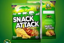 Snack Attack : Corn Snacks / The all new Snack Attack Corn Snacks. Now available in all leading supermarkets and stores near you. Product Label Design by Creative Mode