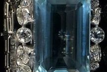 ◇°•○●◇GLAMOROUS AN ART DECO CARTIER MAGNIFICENT AQUAMARINE DIAMONDS◇●○•°◇