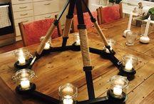 DIY welded chandelier / Welded chandelier, made by me, Vegard Johansen