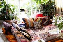 HOME | BOHO STYLE / I live in a yurt....but there's no reason why it can't be a stylish space. So here is all my style inspiration