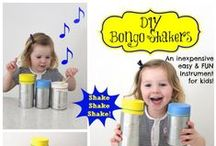Musical FUN for kids! / Help your little ones enjoy the pleasure of Music with our DIY ideas and more!