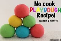 Playdough Recipes / There are INFINITE Playdough Recipes…here are our favourites to share with you!