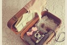 Vintage / Vintage 1920 - 1980 years: dress, picture, books, bags, postcard.