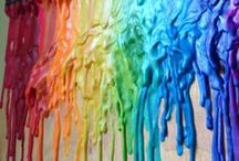 Melted Crayon Art / Fun ways to create art using Melted Crayons!