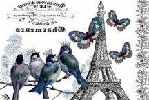 картинки Париж Лондон другие города / для декупажа