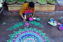 Mandalas, Rangoli / A way to meditate and relax
