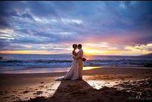 Maui Wedding Sunsets / watercolor skies on Maui. www.dmitriandsandra.com