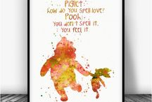 NURSERY QUOTES | CZ / Nursery Quotes Watercolor Art Print Posters.