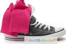 Sport / Tennis / Sneaker Socks by ColorMeSocks™ / Sok van Indiase katoen, Oeko-tex gecertificeerd, voor hem en voor haar. Badstof voet en hoge boord voor prettig draagcomfort.    Een kleurrijke afwisseling voor tennis, golf en veel andere sporten maar ook lekker sportief  in Sneakers, Allstars en trendy casual schoenen.