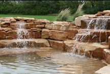 Water Features / Want a waterfall in your backyard? No problem! We can do that!
