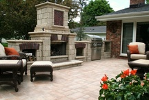 Cooking Outdoors  / All the things you need in your yard to make it the place where you can enjoy spending time with friends and family outdoors! Fireplace, built-in grill, fire pit, pizza oven...you name it!