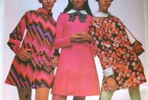Memory Lane Fashion / The clothes we used to wear, or at least similar to those. I wasn't a flower child, colours were OK, but not too much! I liked especially Yves Saint Laurent and Mary Quant.
