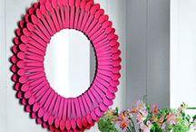 mirror DIY / mirror DIY, manualidades espejos
