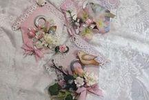 zawieszka zawieszki dekoracje wielkanoc dekoracje wiosna / ręcznie robione zawieszki w kształcie domków