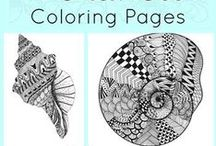 Awesome Coloring Page / Working on coloring pages is not a kid's thing anymore. Adults too!