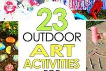 Outdoor Fun for Kids / What better than going OUTSIDE and play. Here is a collection of ideas playing outside.