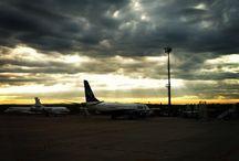In the Sky / Paisagens e aeroportos por onde passei