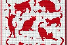 Broderie - chats / by Anne Mali