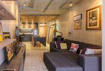 Arquitetura | Pequenos Apartamentos / Referência de Projetos de Apartamentos novos, com dimensões reduzidas  - Projetos, armários, móveis e equipamentos, revestimentos, decoração e  produção final.