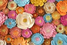 Bows / paper flowers