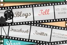 Social Media infographics / Infographics Social Media: Social, Twitter, LinkedIn, Mobile, Social Media Monitoring tools, Pinterest, Facebook, Content, Community.