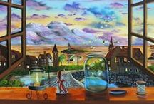 My latest paintings / My latest landscape paintings. All of my paintings are painted with oils on canvas.