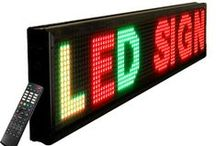 LED Signs / LED Signs are lightweight (20 to 80 pounds), affordable, and extremely bright. These signs are also very easy to program with the included remote control, we use quality components, like Samsung CPU's, and 1/4 duty controllers.