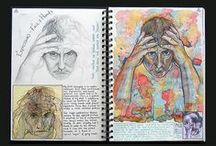 sketchbook / examples .. for process journal / how to express the art work, why I chose ?