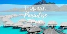 Tropical Paradise Travel / Dream exotic destinations: think clear blue seas, white beaches and palm trees. We're talking The Maldives, The Philippines, Thailand and Bali....