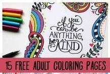 Outside the Lines / Coloring Pages for Adults